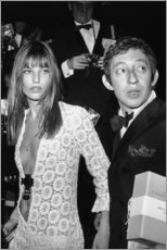 Print på træ  Jane Birkin og Serge Gainsbourg - Celebrity Collection