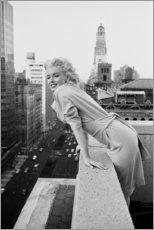 Akrylbillede  Marilyn Monroe i New York - Celebrity Collection