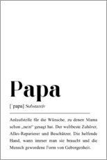 Galleritryk  Papa Definition (tysk) - Pulse of Art