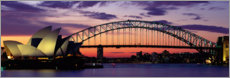 Akrylbillede  Sunset over the harbor of Sydney, Australia