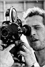 Galleritryk  Paul Newman med kamera - Celebrity Collection