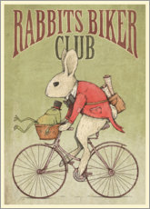 Akrylbillede  Rabbits Biker Club - Mike Koubou