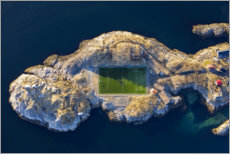 Lærredsbillede  Football field Henningsvær in Norway - Dieter Meyrl