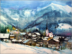 Akrylbillede  Alpbach in winter, Tyrol - Johann Pickl