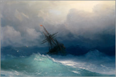 Akrylbillede  Ship at heavy sea - Ivan Konstantinovich Aivazovsky