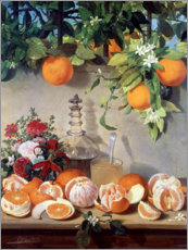 Akrylbillede  Still life with oranges - Rafael Romero Barros