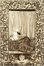 Premium-plakat Psyche with the lamp, sheet 19 of Cupid and Psyche