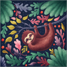 Premium-plakat Sloth in the forest