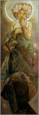 Akrylbillede  The Moon and the Stars - The Moon - Alfons Mucha