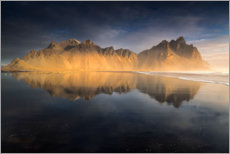 Premium-plakat Iceland - The Vestrahorn at sunrise