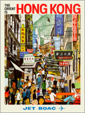 Premium-plakat  Hong Kong - Jet BOAC - Travel Collection