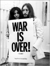 Akrylbillede  Yoko & John - War is over!