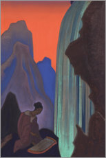Lærredsbillede  Song from the waterfall - Nicholas Roerich