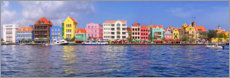 Akrylbillede  Colorful harbor buildings of Willemstad, Curacao