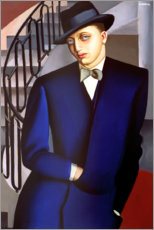 Akrylbillede  Portrait of the Marquis of Afflitto in the staircase, 1926 - Tamara de Lempicka