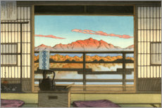 Lærredsbillede  Morning at the Hot-spring Resort in Arayu, Shiobara - Kawase Hasui
