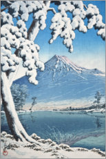 Akrylbillede  Fuji after the snow in Tagonoura Bay - Kawase Hasui