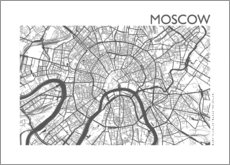 Lærredsbillede  City map of Moscow - 44spaces