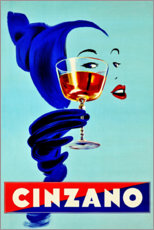 Selvklæbende plakat  Cinzano - Prost - Advertising Collection