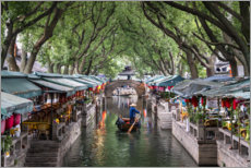 Lærredsbillede  Water village Tongli, China - Jan Christopher Becke