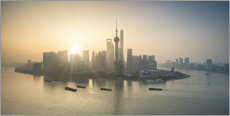 Lærredsbillede  Shanghai skyline at sunrise - Jan Christopher Becke