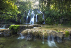 Premium-plakat Picturesque waterfall in the forest