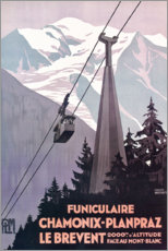 Print på skumplade  Chamonix-Mont-Blanc (French) - Travel Collection