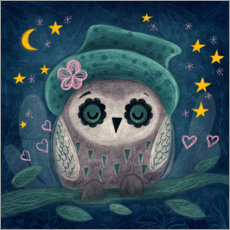 Premium-plakat Owl in the night