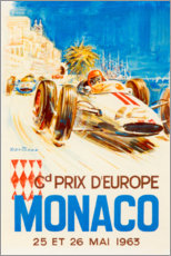 Premium-plakat  Grand Prix of Monaco 1963 (French) - Travel Collection