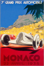 Print på træ  Grand Prix of Monaco 1935 (French) - Travel Collection