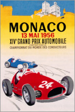 Premium-plakat Grand Prix of Monaco 1956 (French)