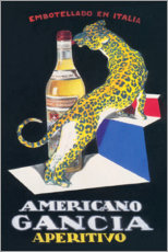 Akrylbillede  Gancia Vermouth Bianco (Italian) - Advertising Collection
