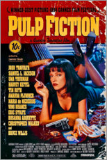Selvklæbende plakat  Pulp Fiction (engelsk) - Entertainment Collection