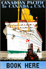 Premium-plakat Canadian Pacific, to Canada and USA (English)