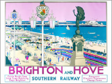 Selvklæbende plakat  Brighton and Hove - Kenneth Shoesmith