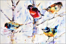 Galleritryk  Birds on branches - Keti Teichner