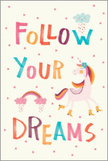 Lærredsbillede  Follow your dreams (English) - Marta Munte