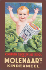 Premium-plakat Molenaars children's meal (Dutch)