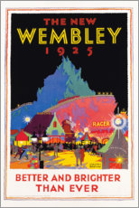 Print på aluminium  The new Wembley 1925 (English) - Gregory Brown