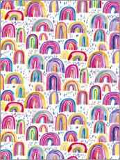 Print på skumplade  Colorful watercolor rainbows - Ninola Design