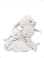 Galleritryk  Cuddly bunnies - Kidz Collection