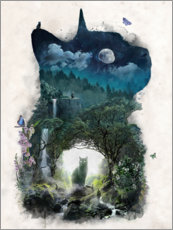 Galleritryk  The Cat Realm - Barrett Biggers
