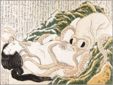 Akrylbillede  The Dream of the Fisherman's Wife - Katsushika Hokusai