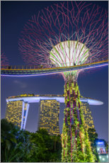 Premium-plakat  Supertree Singapore II - Ulrich Beinert