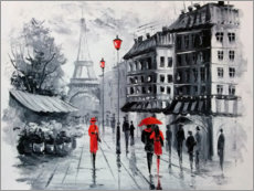 Akrylbillede  The streets of Paris - Olha Darchuk