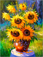 Akrylbillede  Bouquet of sunflowers - Olha Darchuk