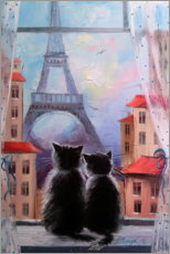 Akrylbillede  Together in Paris - Olha Darchuk