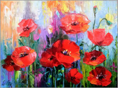 Akrylbillede  Poppies in the field - Olha Darchuk