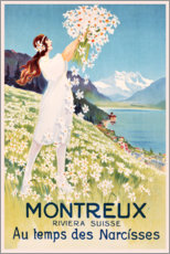 Lærredsbillede  Montreux (French) - Travel Collection