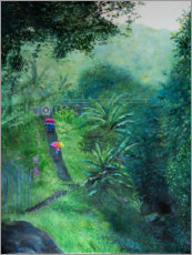 Akrylbillede  A staircase in the jungle - Jonathan Guy-Gladding